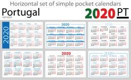 Portugal horizontal pocket calendars 2020 stock photos