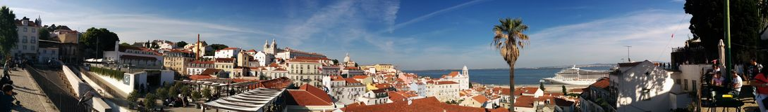 Portugal houses. Houses in portugal lisbon roofs Royalty Free Stock Photography
