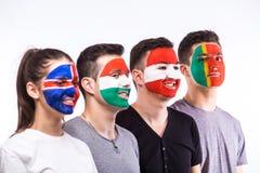 Portugal, Hungary, Iceland, Austria on white background. Royalty Free Stock Photos