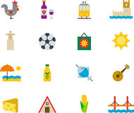 Portugal icon set Royalty Free Stock Images