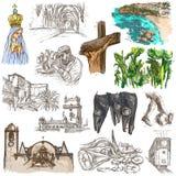 portugal Imagens da vida Freehands ilustração do vetor