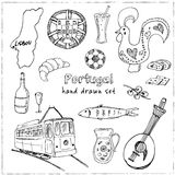 Portugal isolated elements and symbols. Hand drawn vector illustration Stock Photography
