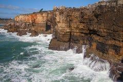Portugal kust på Cascais Royaltyfri Bild