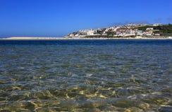 Portugal, Lagoa de Obidos or Obidos Lagoon. Stock Photography