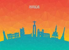 Portugal Landmark Global Travel And Journey paper background. Ve. Ctor Design Template.used for your advertisement, book, banner, template, travel business or Stock Photography