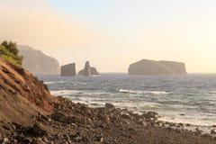 """Portugal-Landschaft-†""""Ozean und Felsen stockfoto"""