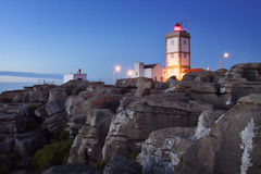 Portugal: Lighthouse of Peniche. Lighthouse by the Atlantic Ocean in Peniche, Portugal royalty free stock photography
