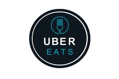 Portugal, Lisboa, el 16 de junio de 2018: el ejemplo del UBER come el logotipo Una empresa popular para la entrega de la comida e Ilustración del Vector
