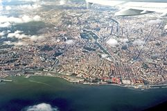 Portugal, Lisbon: Aerial view of Lisbon Stock Photos