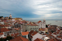 Portugal-Lisbon-Alfama-district. View from one of the viewpoint at Alfama district. Lisbon Stock Photography