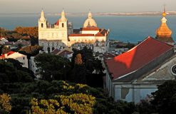 Portugal, Lisbon: Church near the Taje river Royalty Free Stock Photo