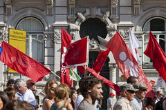 Portugal Lisbon demonstration protest crisis Stock Photos