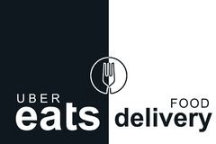 Portugal, Lisbon, June 16, 2018: illustration of the UBER eats logo. A popular firm for the delivery of food at home and. In offices. Express meal delivery. My Stock Photography