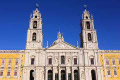 Portugal, Lisbon, Mafra. The National Palace and Franciscan Convent. Royalty Free Stock Photo