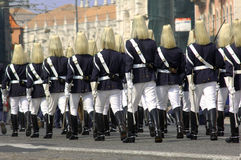 Portugal, Lisbon: military parade Stock Images