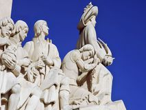 Portugal, Lisbon: Monument to the Discoveries. Known as padrao dos descobrimentos , the monument was constructed as temporary for the portuguese world fair in Royalty Free Stock Photography