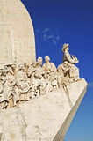 Portugal, Lisbon: Monument to the Discoveries. With all the main historical figures; on the edge the Infante D. Henrique Stock Photos