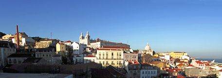 Portugal, Lisbon: panorama Royalty Free Stock Photography