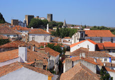 Portugal, Lisbon. Picturesque, medieval town of Obidos. Royalty Free Stock Photography