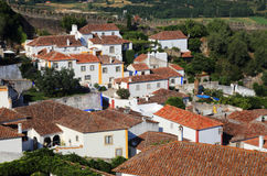 Portugal, Lisbon. Picturesque, medieval town of Obidos. Royalty Free Stock Photo
