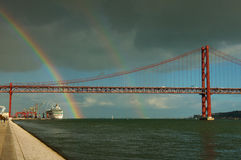 Portugal Lisbon rainbow Royalty Free Stock Photo