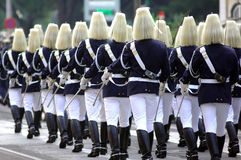 Portugal, Lisbon: Republican Guard. The famous portuguese guard royalty free stock photos