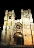 Portugal, Lisbon: Se Cathedral at night Stock Photos