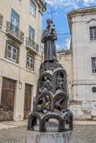 Portugal lizbońskiego Rzeźba przed Santo Antonio kościół Obrazy Stock