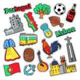 Portugal loppbeståndsdelar med arkitektur vektor illustrationer