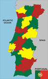 Portugal map Royalty Free Stock Photography