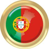 Portugal map and flag Royalty Free Stock Photo