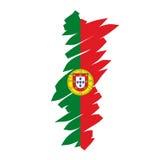 Portugal mapy wektora Obraz Stock