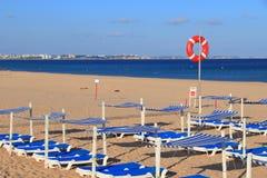 Portugal - Meia Praia. Meia Praia beach landscape in Algarve region of Portugal royalty free stock images