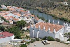 Portugal, Mertola, hermosas vistas del río Guadiana Fotografía de archivo libre de regalías