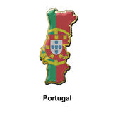 Portugal metal pin badge Stock Photography
