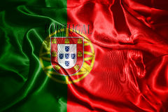 Portugal National Flag With Country Name Written On It 3D illust Royalty Free Stock Images