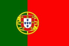 Portugal National Flag 3D illustration Stock Images