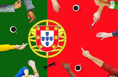 Portugal National Flag Government Freedom LIberty Concept Royalty Free Stock Photos