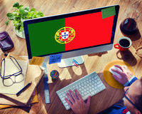 Portugal National Flag Government Freedom LIberty Concept Royalty Free Stock Photo
