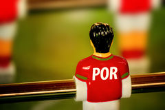 Portugal National Jersey on Vintage Foosball, Table Soccer Game Royalty Free Stock Photos