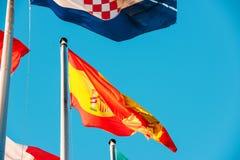 Portugal nationsflagga som vinkar I Royaltyfri Bild