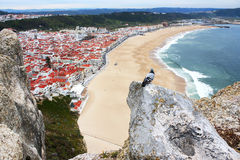 Portugal. Nazare. Beautiful view from the top at a seaside resort on the Atlantic coast Stock Images