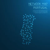 Portugal network map. Royalty Free Stock Photo