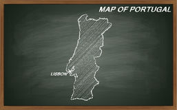 Portugal no quadro-negro Foto de Stock