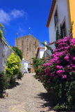 Portugal,  Obidos historical centre. Royalty Free Stock Photo
