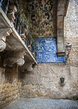 Portugal, Obidos Wände und Türme der Festung Stockbild