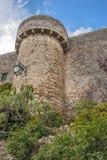 Portugal, Obidos Wände und Türme der Festung Lizenzfreies Stockbild