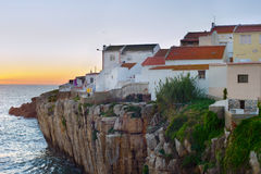 Portugal ocean shore architecture Royalty Free Stock Photography