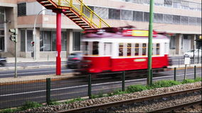 Portugal - Old touristic tramway in Lisbon stock footage