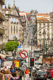 PORTUGAL -  One of the streets in the Porto Old town. Royalty Free Stock Image